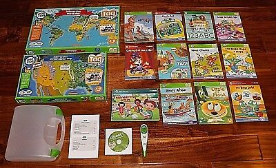 Leap Frog Tag Reader Pen Reading System Case USB Cable 12 Girl Books *Ships Fast
