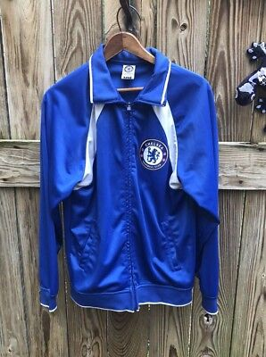 ADIDAS CHELSEA FC Soccer Football Mens Warm Up Training Jacket S ... e0774cffa