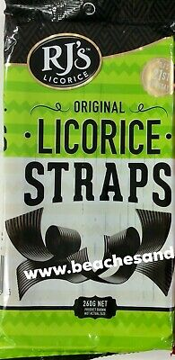 RJ's Licorice Straps New Zealand Import Original or Raspberry One Packet