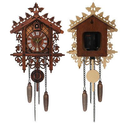 Vintage Wall Clock Cuckoo Tree House Art Home Decor 44.0*18.5*5.7cm 3D feeling