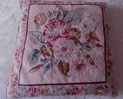 """Superb Hand Worked Tapestry Cushion - 15"""" - Roses"""
