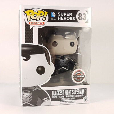 Funko POP! DC GameStop Exclusive BLACKEST NIGHT SUPERMAN Vinyl Figure Vaulted