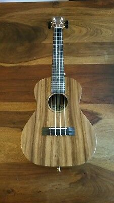 Pono ATD All Solid Acacia Deluxe Tenor Ukulele Ebony Fingerboard & Bridge Gloss