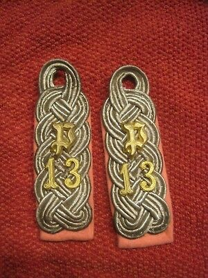 WWII Panzer Jeager Majors Shoulder Boards