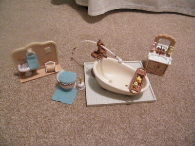Sylvanian Families Luxury Bathroom Furniture Set with Accessories
