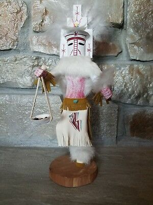 "Signed 14"" Navajo ""White Cloud"" Dancer Kachina Doll by Yazzie"