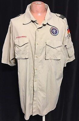 BOY / CUB SCOUT SHIRT - ADULT 2X-LARGE (Tan) SHORT SLEEVE - OFFICIAL BSA