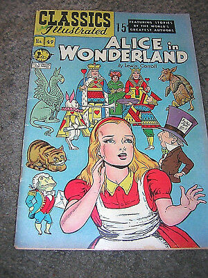 Vintage Classics Illustrated #49 ALICE IN WONDERLAND OCT 1949 ~ FREE SHIPPING