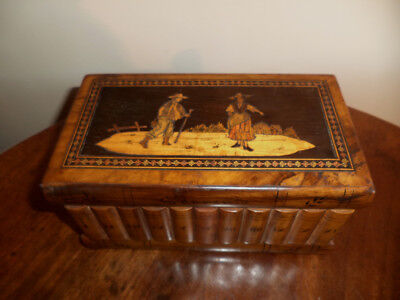 Great Sorrento ware jewelry box with secret access and original key