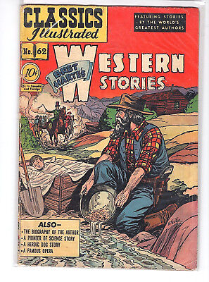 Vintage Classics Illustrated #62 B. HARTE WESTERN STORIES 1949 ~ FREE SHIPPING