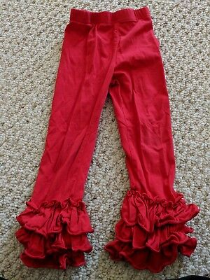 Toddler girls Boutique Red Ruffle Pants Size 3t
