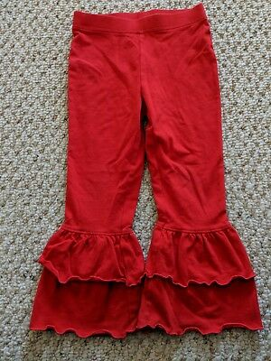 Boutique Red Ruffle Pants 3T