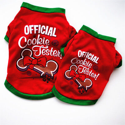 Dog Puppy Cute Christmas Hoodie Sweater Warm Xmas Clothes Costume Cotton US