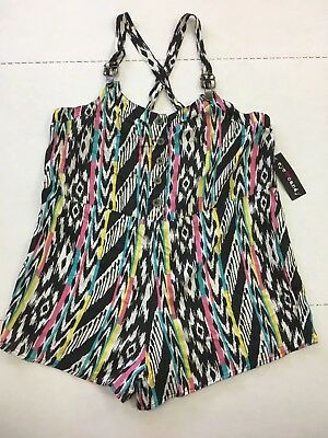99a1c033757 Eye Candy Nwt Juniors Plus Size 1x Short Romper Overalls Retro Look Summer