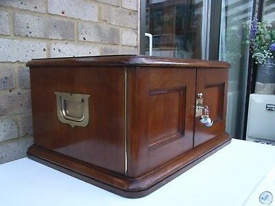 Antique Oak Cutlery Chest/coin/medal/watch Collectors Cabinet/sewing/craft Box