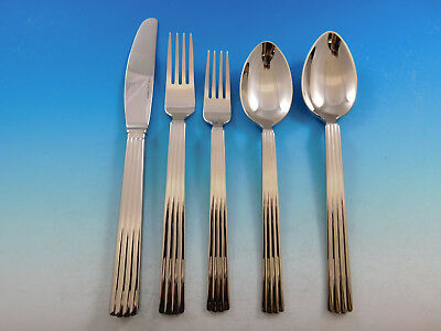Bernadotte by Georg Jensen Stainless Steel Flatware Set 12 Service 62 pcs Unused