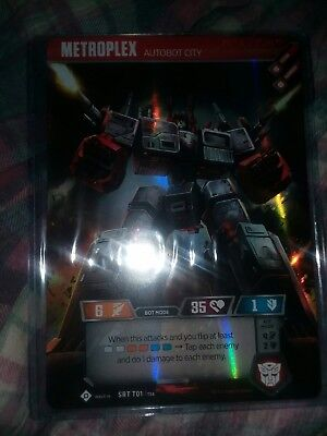 2 metroplex omega titans toploaders sleeves only Transformers tcg ccg card 6 x 8