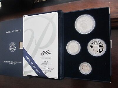 2008 w patinum American Eagle 4 coin set