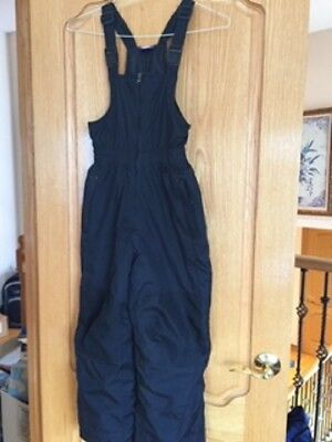 fb011a658 Kids Youth Snow Sport Ski Bib Overall Generation Me Black Insulated Size 7/8