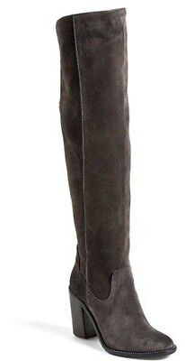 a4398005eb5 DOLCE VITA GRAY Leather Foldover High Heel Boots Women s Size 6 ...