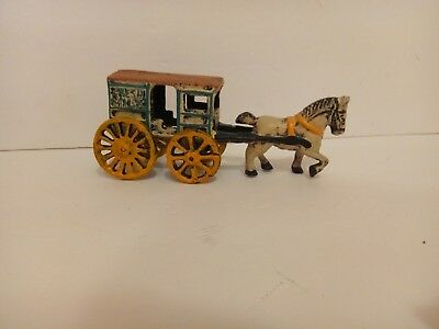 "Vintage Antique Cast Iron Horse and Wagon Buggy Toy ""Fresh Milk""advertising,rare"