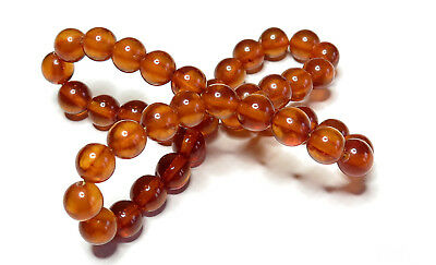 Antique Natural Pressed Baltic Amber stretch Twin bracelet.