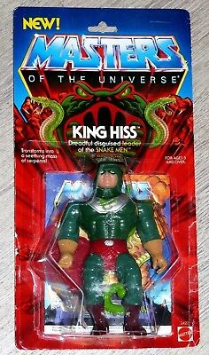 Masters Of The Universe MOTU He-Man King Hiss MOC/OVP/MINT US Karte NEW Logo