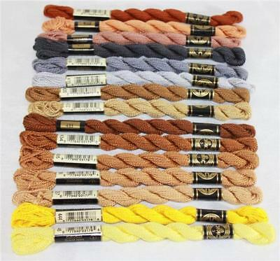 DMC Perle Cotton Embroidery Floss Assorted Colors of Color Series 400 Size 3