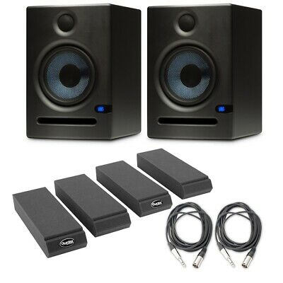 PreSonus Eris E5 (Pair) Active Monitors with Isolation Pads and 2 Cables