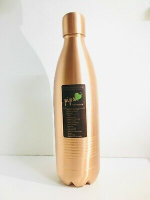 Aayu Seamless Copper Bottles- 1 Litre- Promotes mind and Body Health