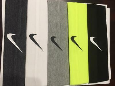 5 color pack headbands - Men or Women - One size fits all - Nike