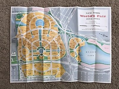 vtg 1964 New York World's Fair Visitor's Fold-Out Map