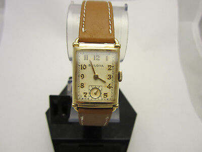 Bulova Art Deco Vintage Antique Wrist Watch Gold Filled Fifth Ave New Yourk