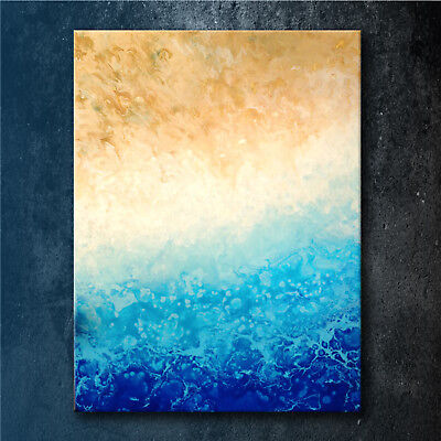 Original Modern Abstract Ocean Painting On Canvas