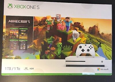 Microsoft XBOX ONE S 1TB  Minecraft Creators Limited Edition Bundle NEW