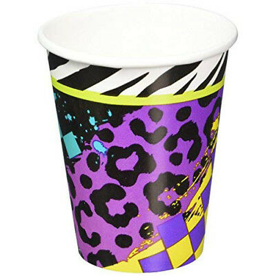 Amscan 8: Totally 80s Paper Cups 266ml