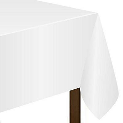 Amscan Frosty White Plastic Tablecovers 1.37m x 2.74m