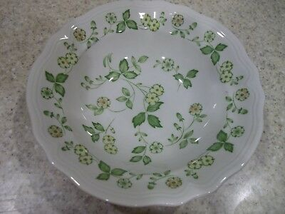 "1 Sears 9 1/2"" Petite Flora Serving Bowl Ywllow Orange Flowes Green Leaves"