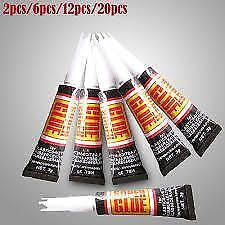 6/12/20pcs Super Glue Surface Insensitive Strong Extra Adhesive Fast Instant