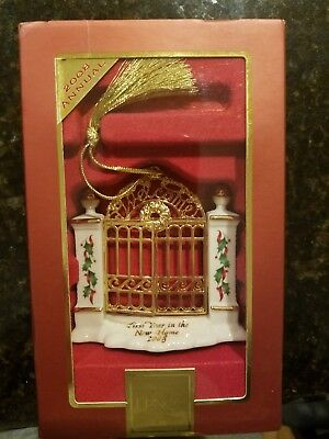 LENOX 2008 1st YEAR IN OUR NEW HOME GATE ORNAMENT -NEW IN BOX