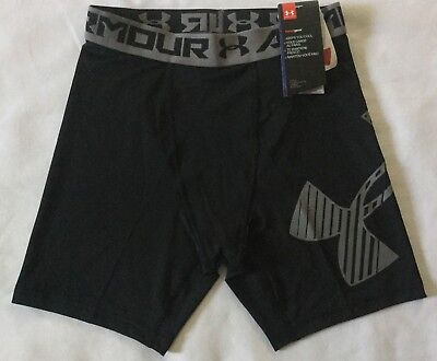 NWT Boy's Youth Under Armour HeatGear Mid Shorts Fitted Small 1289960 MSRP $23