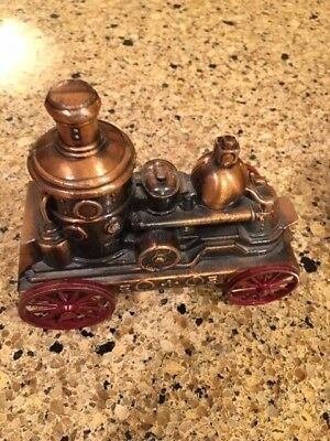 Vintage Banthrico Stage Coach and Steam Fire Truck Banks