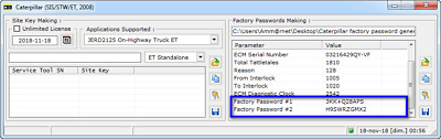Caterpillar ET 2017 Factory Password Generator software