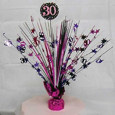Amscan Pink Sparkling Celebration 30th Spray Centrepieces 33cm