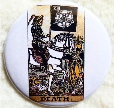 Death Tarot Card button badge pin astrology horoscope worship halloween
