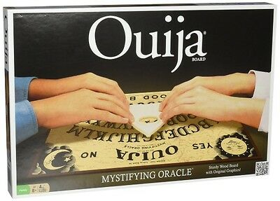 Classic Ouija Board Game, Sturdy Wood Construction, Original Graphics Spooky Fun