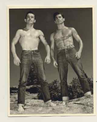 "Male physique photo, Don Whitman, 4x5"",1940s - 1960s  #22, bare-chested"