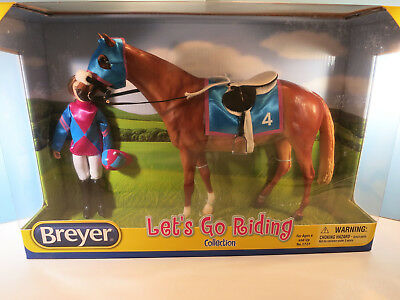 BREYER TRADITIONAL-Let's Go Riding Race Horse & Jockey-Touch Of Class Mold-New