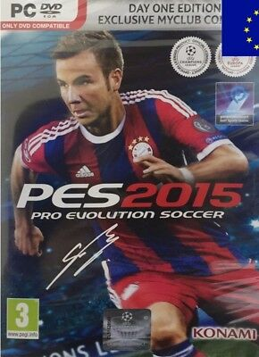 PES 2015 Pro Evolution Soccer DAY ONE EDITION (PC DVD) football soccer NEW