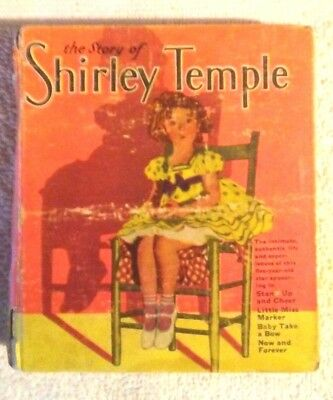 Rare Old Vintage Original Big Little Book The Story Of Shirley Temple 1934